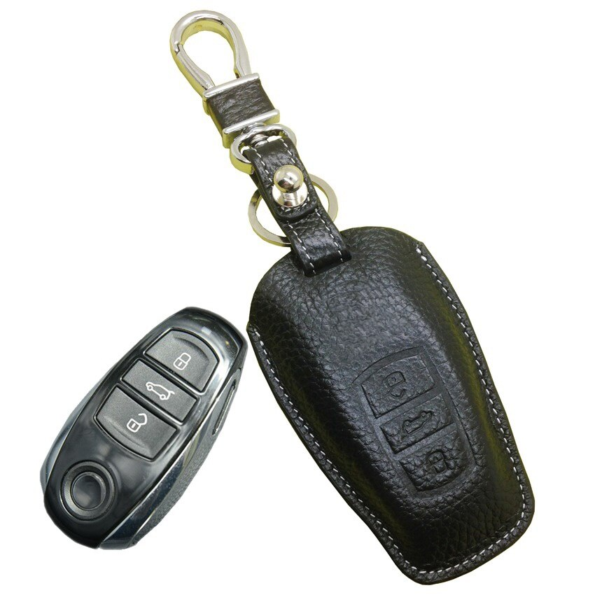VW 2010~2016 2017 Car Key Case for Volkswagen Touareg Remote Key Fob Cover Holder Leather Protective Shell vw Key accessories