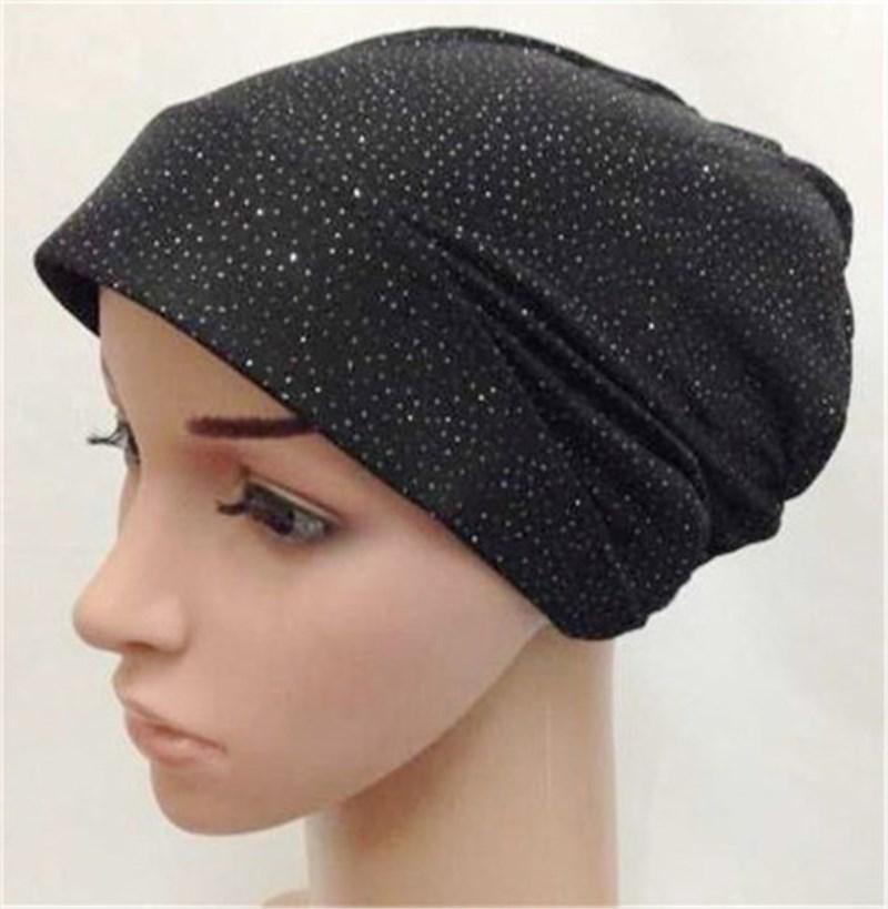 Cores doces Xales Hijab Muçulmano Tampas Islâmico Árabe Cachecol Hijab Interior Chapéus Caps Muçulmano
