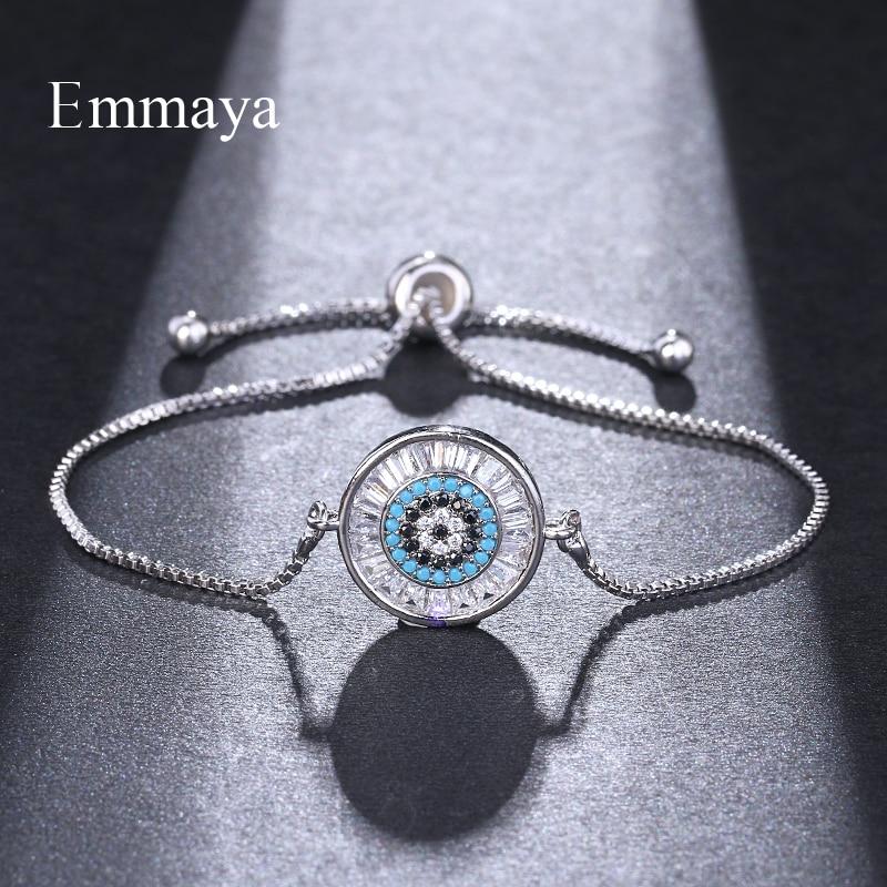 Emmaya nova moda ajustável pulseiras para mulheres cristal charme pulseira de casamento festa jóias amigo presente atacado