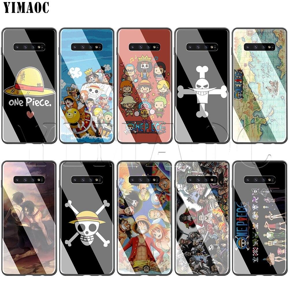 Caixa De Vidro para Samsung Galaxy S7 YIMAOC One Piece S8 S9 S10 Plus Nota 8 9 10 A50 A20 A10 a70