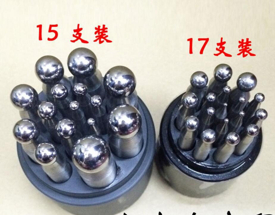 Jewelers Riefenanken Schläge 17 stücke Riefenanken Block Set schmuck werkzeuge und ausrüstung