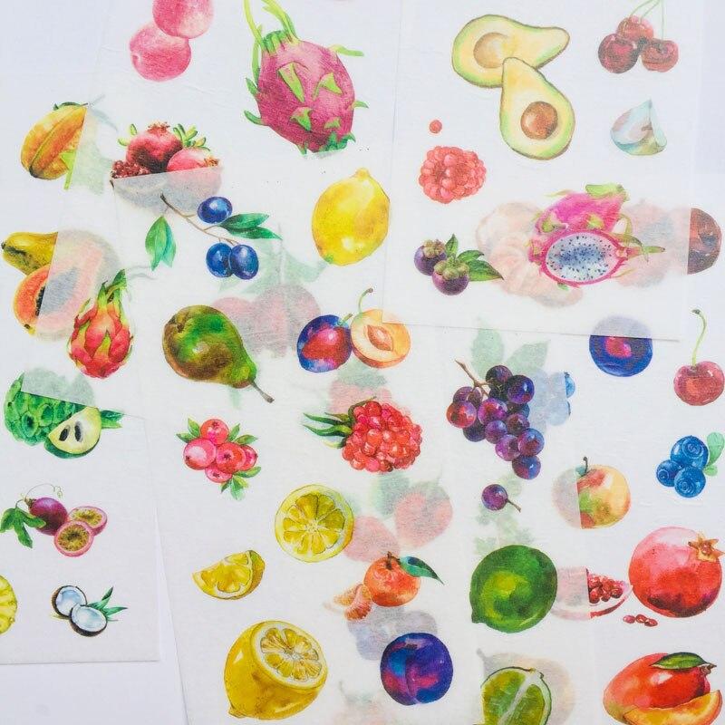 6-lenzuola-freschi-frutti-colorati-di-carta-washi-adesivi-decorativi-del-computer-notebook-decor