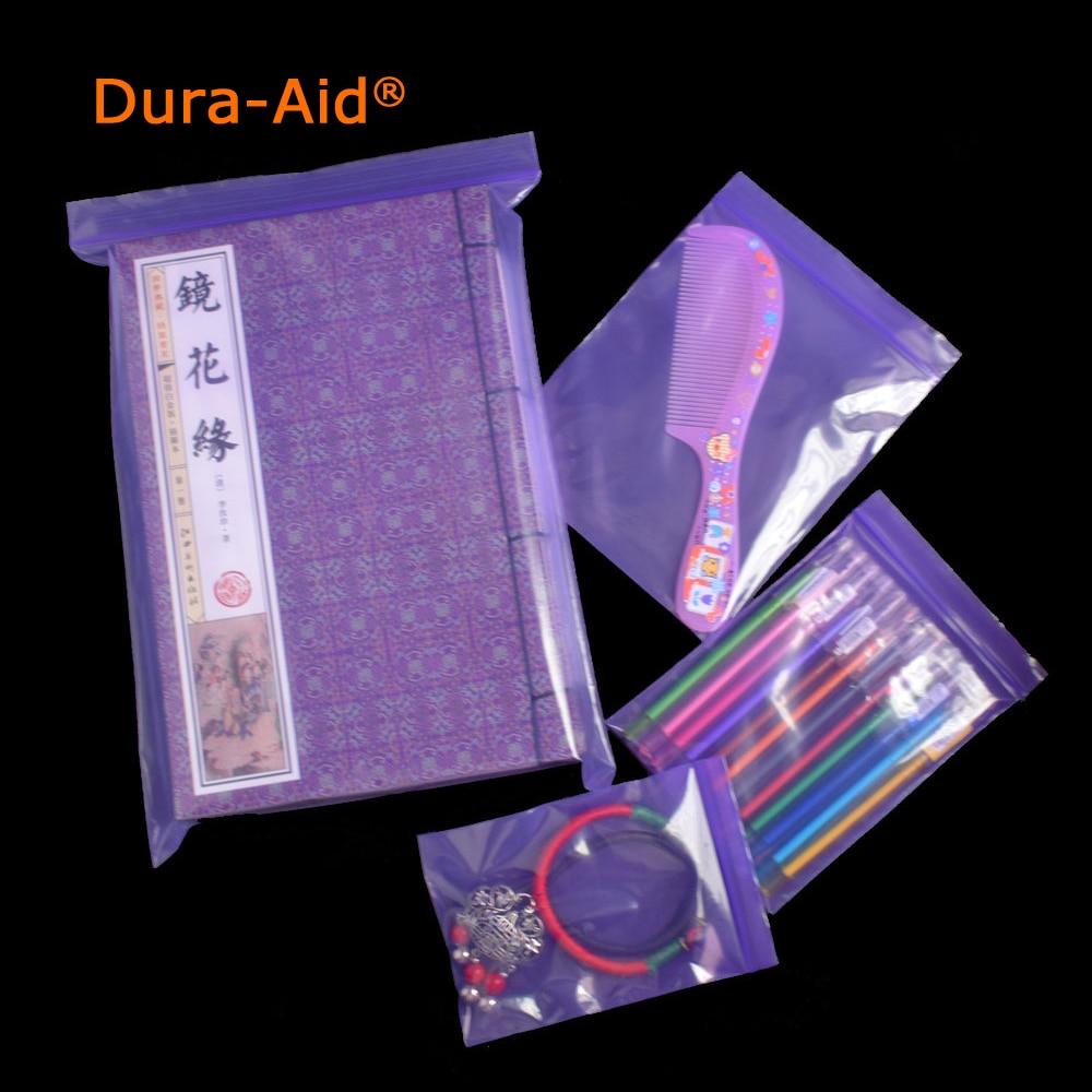 500pcs different size purple plastic ziplock bag Premium Poly Flat Purple Plastic Zip Lock Pouches Storage bag mini ziplock bags