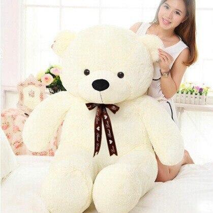 Oso de peluche de 60cm-120cm, adorable oso de peluche, gran abrazo, oso completo con relleno, muñeca infantil, regalos para chicas para cumpleaños, regalo