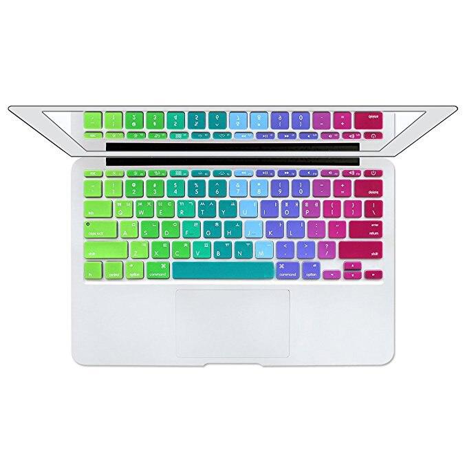 Protector de cubierta de teclado coreano para MacBook Air de 11 pulgadas 11,6 pulgadas A1370 A1465, cubierta de teclado de idioma coreano, piel de silicona para Mac