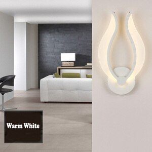 Indoor 9W LED wall mount light fixture SMD 2835 acrylic lamp bedroom white shell