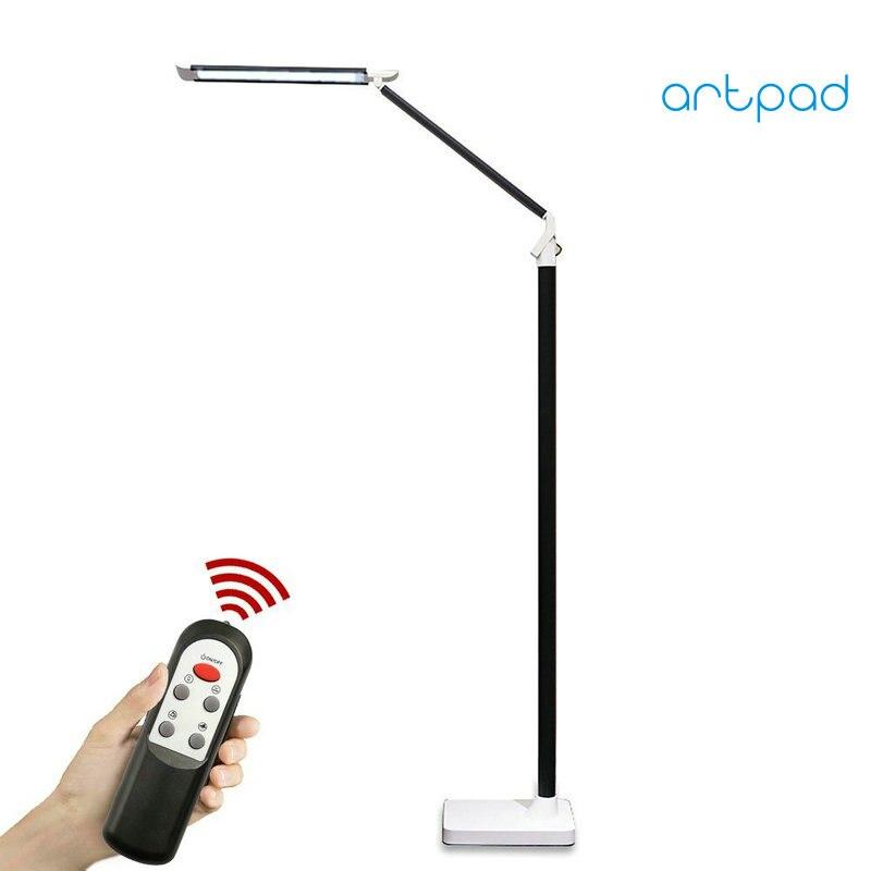 Artpad Control remoto lámpara LED de pie moderna nórdica 12W 25 ajuste de nivel táctil Dimmer Piano lámpara ojo cuidado lectura Luz