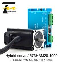Leadshine-moteur de Servo hybride HBS507   NEMA23, tension dentrée VDC, 18-50V + régulateur de moteur, 6A 2N.M