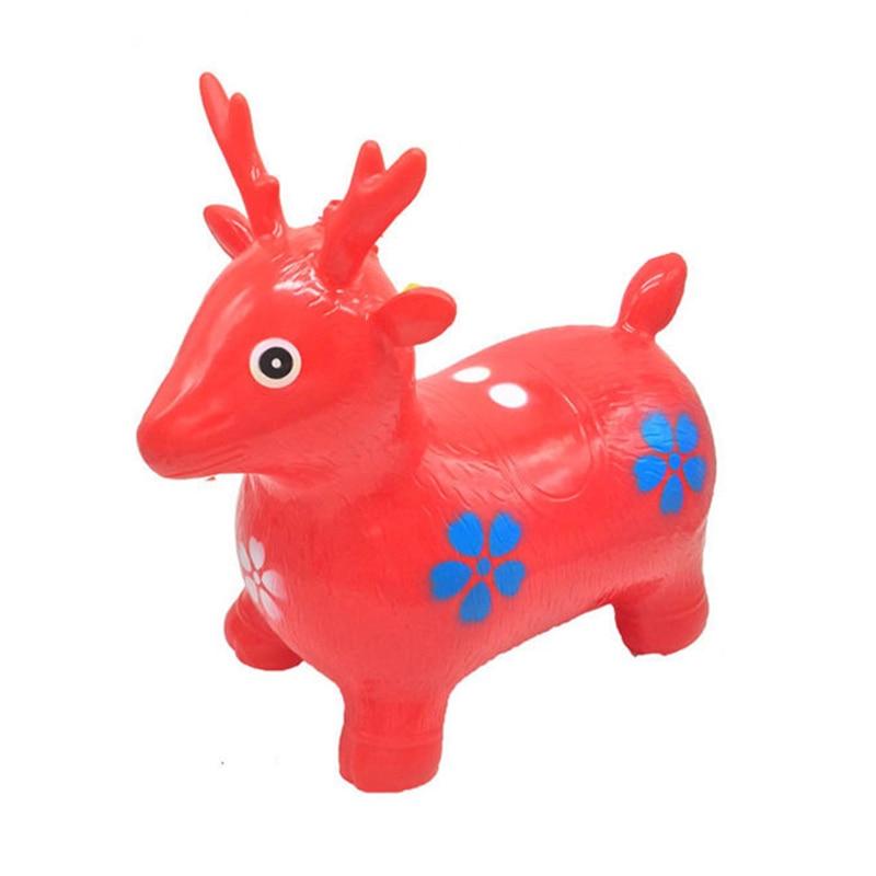 2019 saltador inflable de colores al azar paseos en animales caballo inflable juguetes para niños de goma ciervos juguetes de regalo para niños