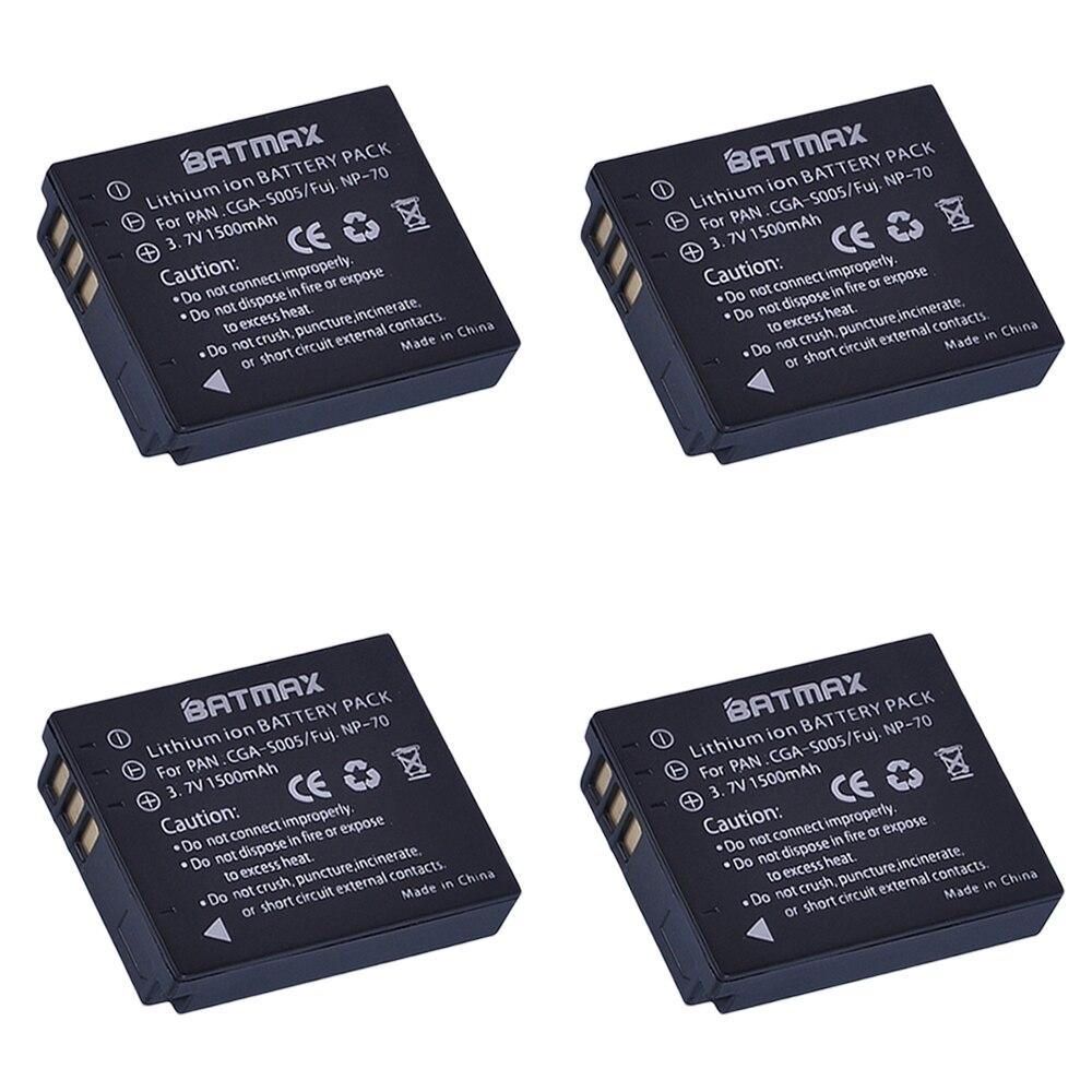 (4-Pack)CGA-S005 CGA S005 CGAS005 Batteries for PANASONIC DMW-BCC12 DMC-FX8 FX9 FX10 FX12 FX50 FX150 LX1 LX2
