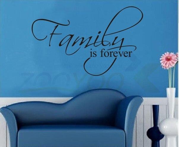 Familie Ist Immer wanddekoration aufkleber familie wandtattoo dekorative aufkleber vinyl wandkunst aufkleber ZYVA-8068