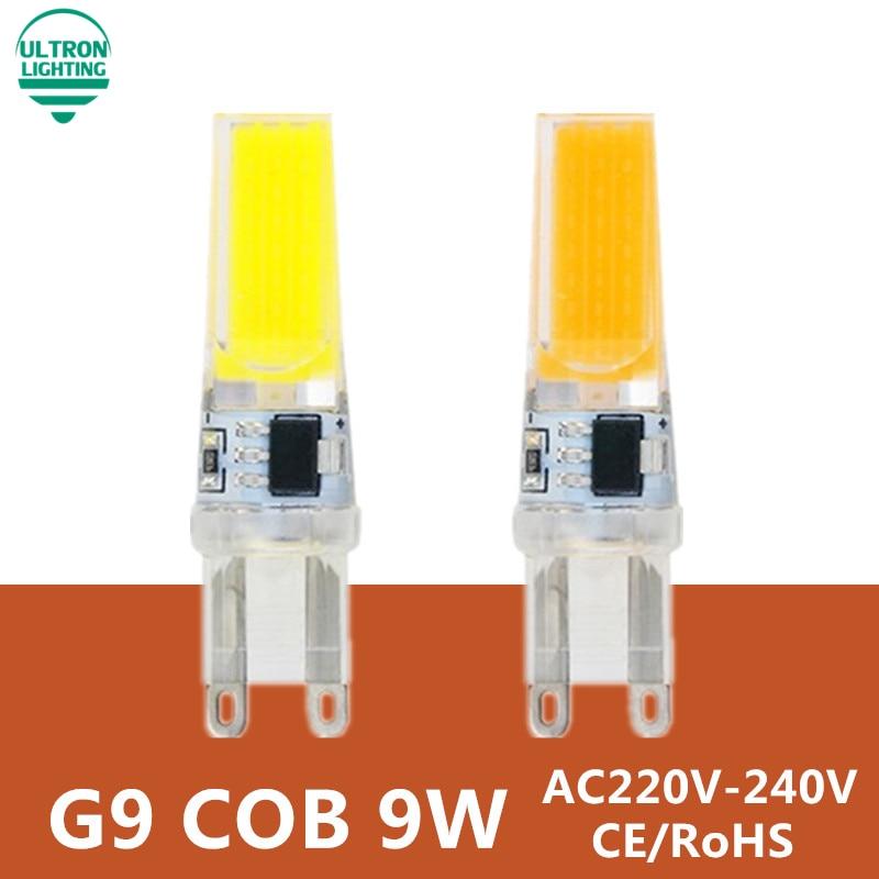 G9 светодиодный светильник 220 В 9 Вт COB SMD светодиодный светильник ing светильник s Заменить галогенный Точечный светильник люстра светильник 230 в 240 В лампада светодиодный G9 Лампа
