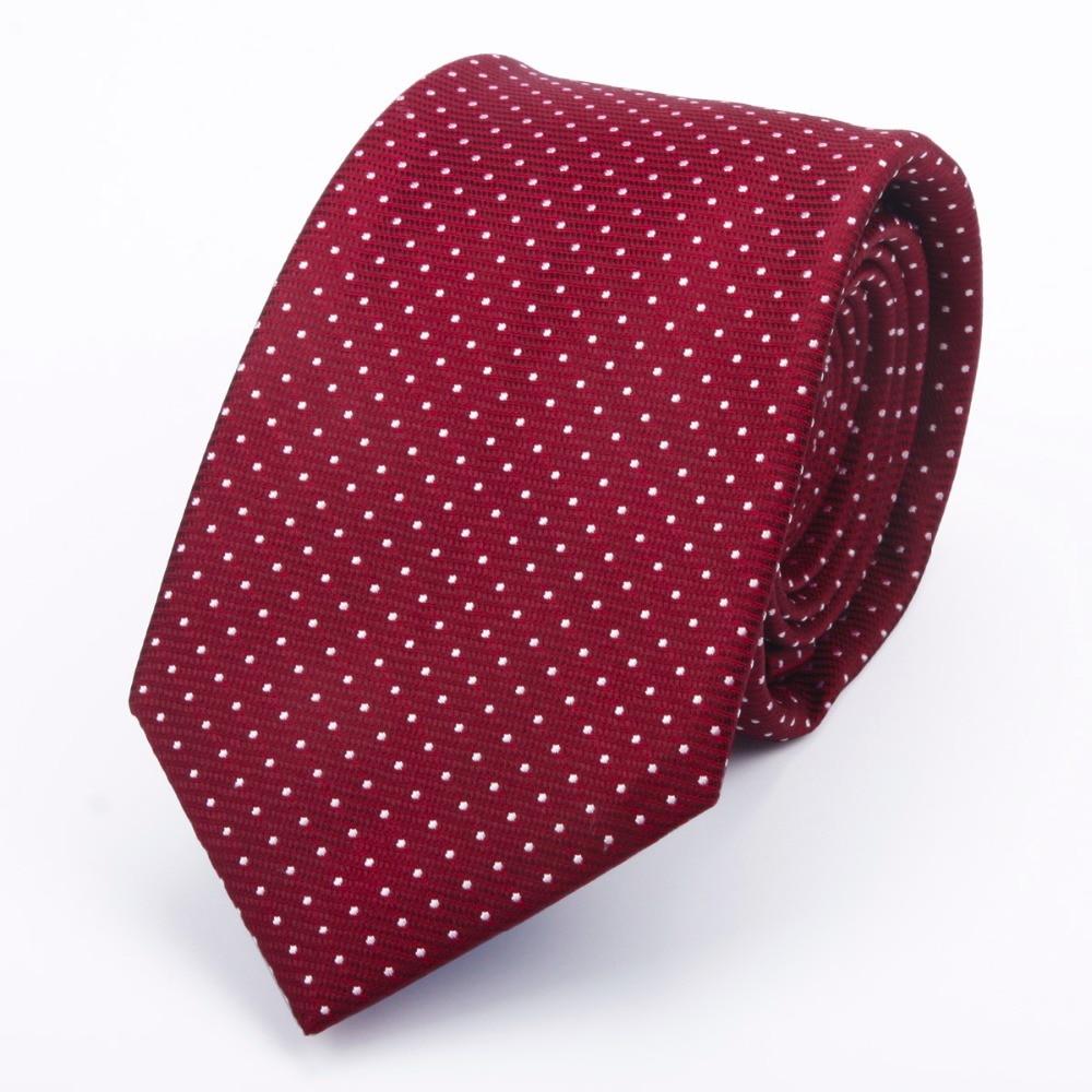 Premium 7cm Jacquard Polka Dots Silk Necktie Handmade Business Tie Men Gift