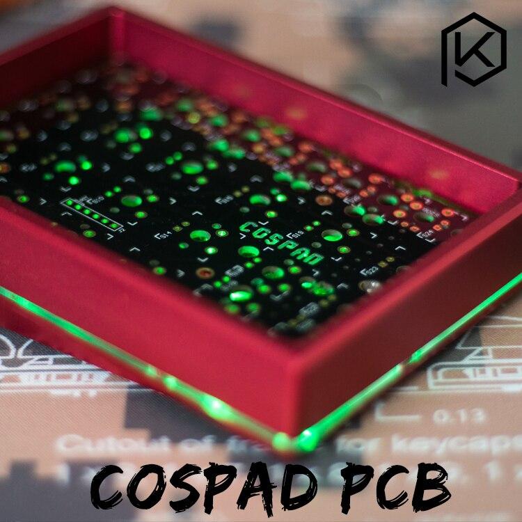 Cospad Custom Mechanical Keyboard Kit up tp 24 клавиши поддерживает TKG-TOOLS Underglow RGB PCB 20% программируемый numpad XD21 XD24