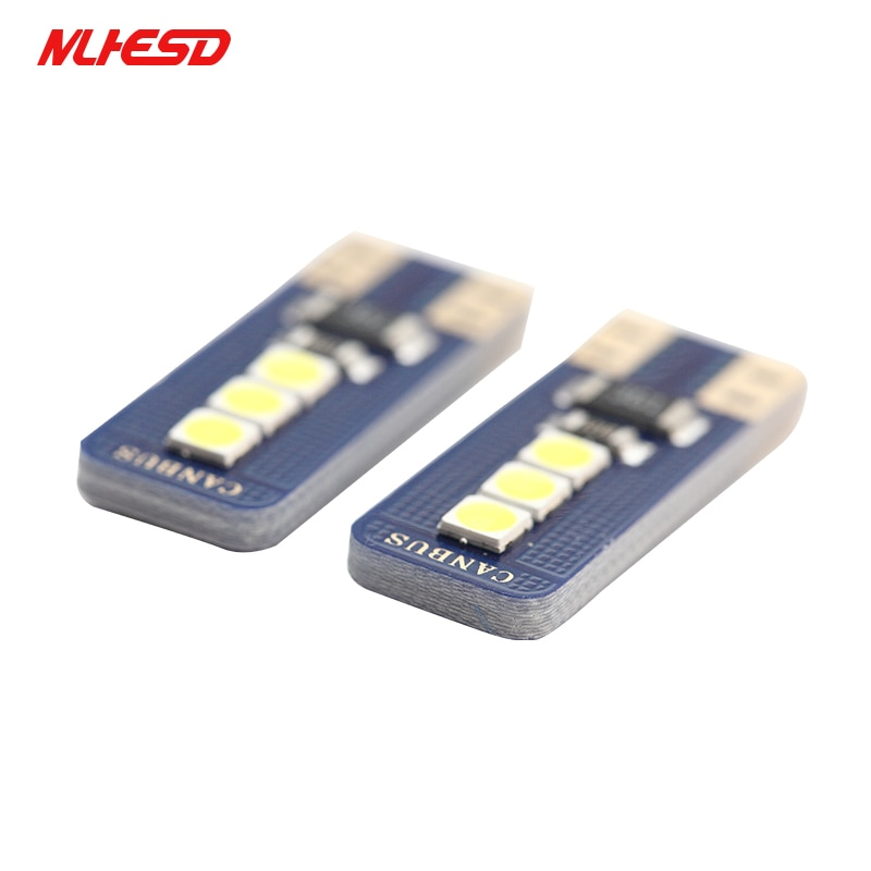 10PCS Canbus T10 3030 6SMD White 194 168 2825 W5W LED Bulb For Car Interior Dome Side Tail Light Car Replacement Lights Bulb