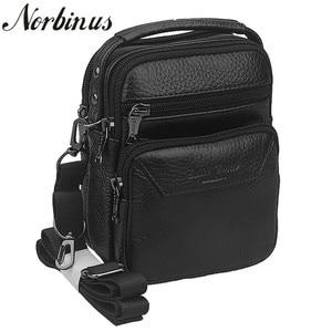 Norbinus Genuine Leather Messenger Shoulder Bag Tote Men Hip Bum Belt Cell Phone Case Purse Fanny Waist Pack Business Handbag