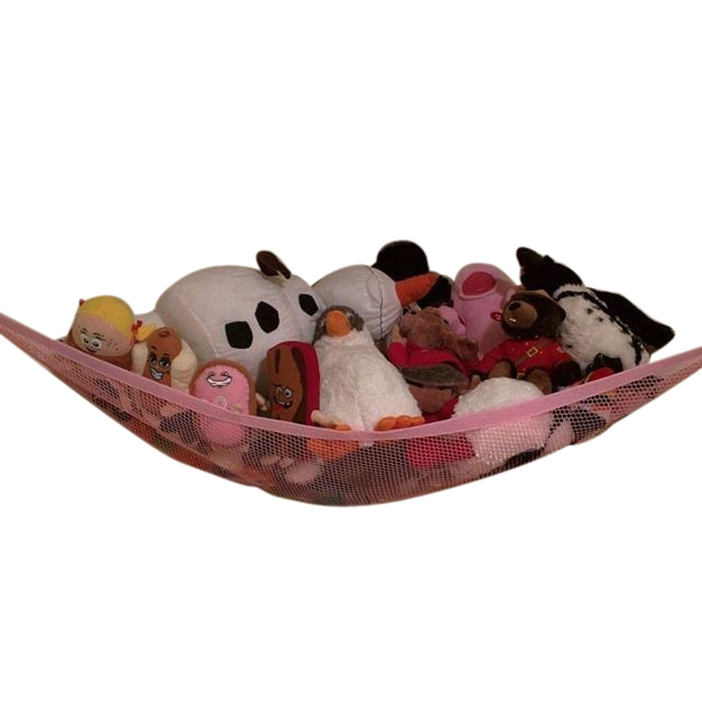 80x60x60cm larger Hammock Corner Jumbo Organizer Storage for Animals Pet Toy Swings pink white toys for children #