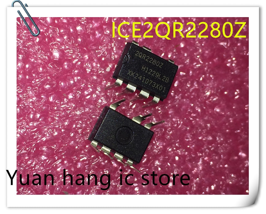 10 pçs/lote ICE2QR2280Z 2QR2280Z DIP8 Original Novo