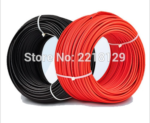 Boguang 2*20 متر/وحدة (أسود كابل 20m + الأحمر كابل 20m) 2.5mm2 الشمسية موصل كابل 14AWG الأسود أو الأحمر موافقة TUV الطاقة الكهروضوئية كابل
