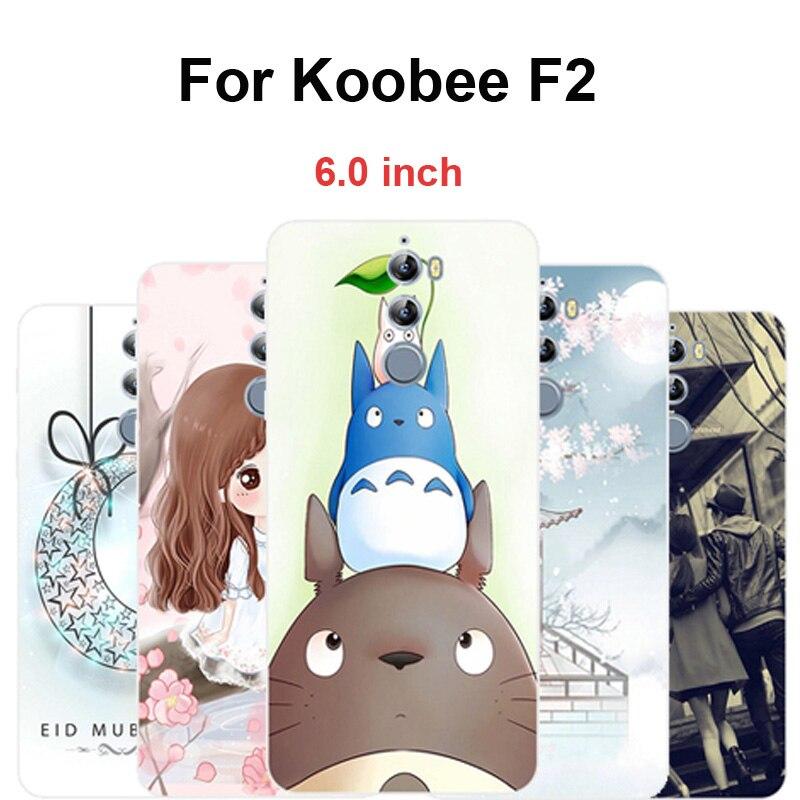 Silicona suave para Koobee F2 funda de teléfono pintada de dibujos animados clara funda trasera 6,0 para Koobee F2 F 2 Fundas protectoras de teléfono Coque