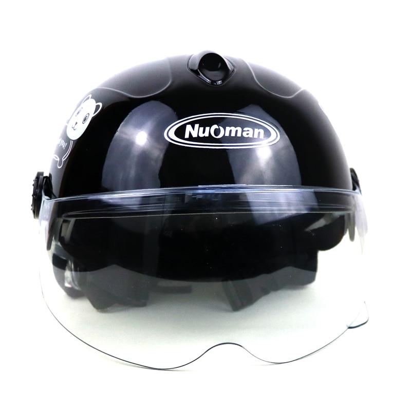 MotoLovee Children Motorcycle Helmet Cartoon Kids Helmet For Motorcycle Open Face Helmet Casco Moto Capacete Retro Vintage Caps enlarge