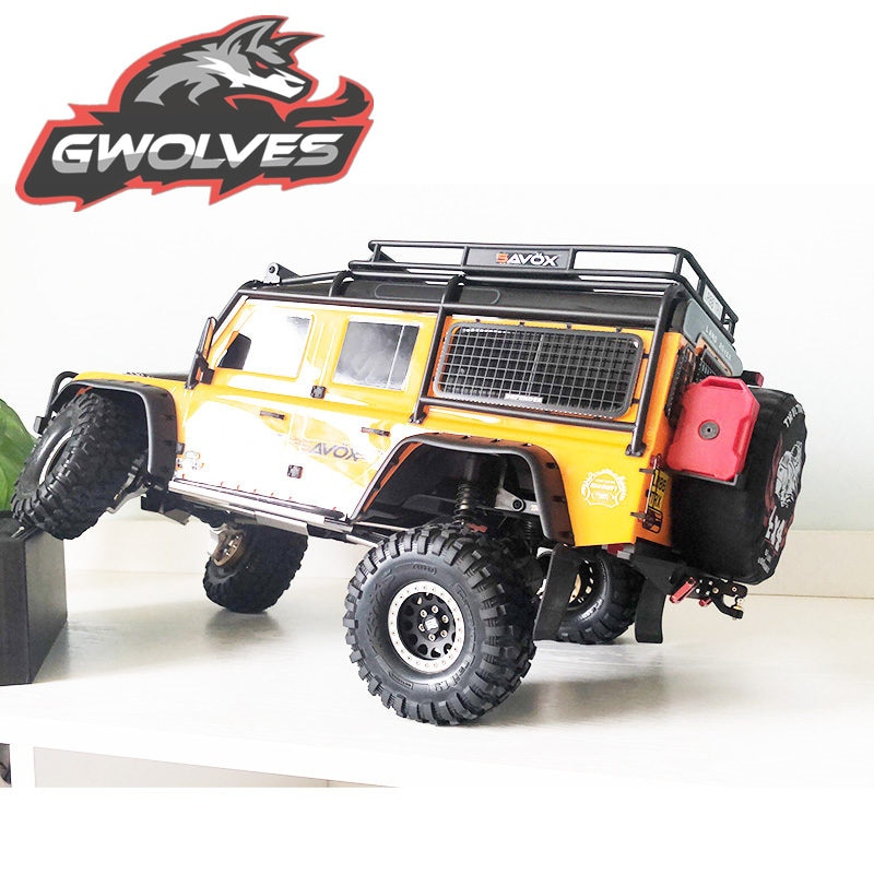 GWOLVES 1/10 trailer hook metal trailer hook Simulated Crawler Scale climbing RC car for trax TRX4 axial SCX10 90046 90047 enlarge