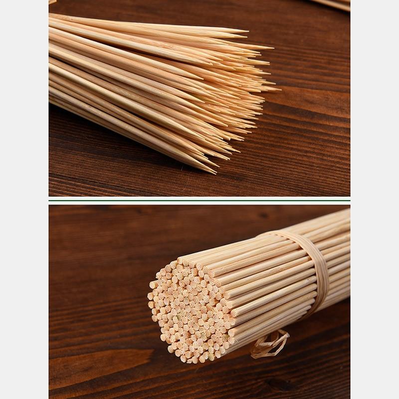 Крепкий шампур из бамбуковых палочек для барбекю Фруктовый Шашлык Из Натурального Дерева 25 см палочки для барбекю