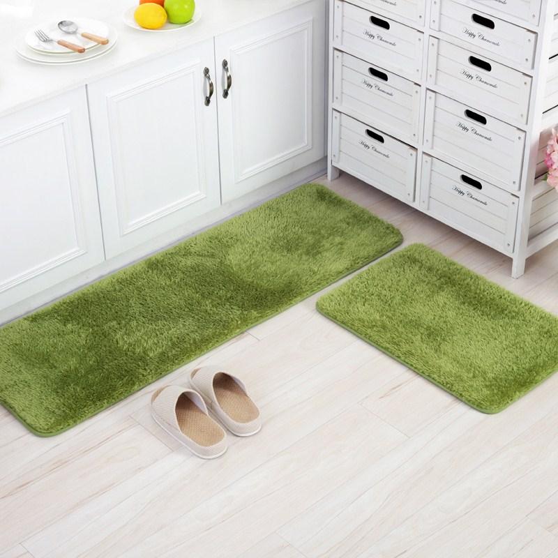 50X80 + 50X150 CM/juego de alfombrilla de cocina de felpa casa pasillo felpudo antideslizante Baño alfombra de dormitorio y alfombras alfombra de área de balcón