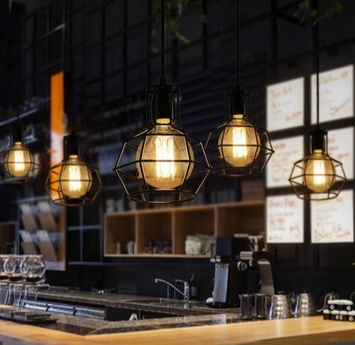 Loft Decor LED Edison Droplight Industrial Vintage Pendant Lamp Fixtures For Dining Room Bar Hanging Light Indoor Lighting