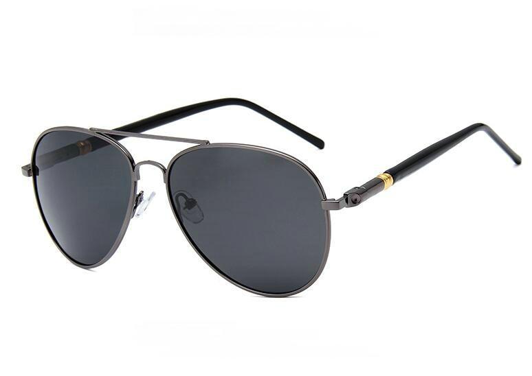 Luxury Brand original classic Brand aviation metal frame polarized sunglasses Womens/Men Driving sun