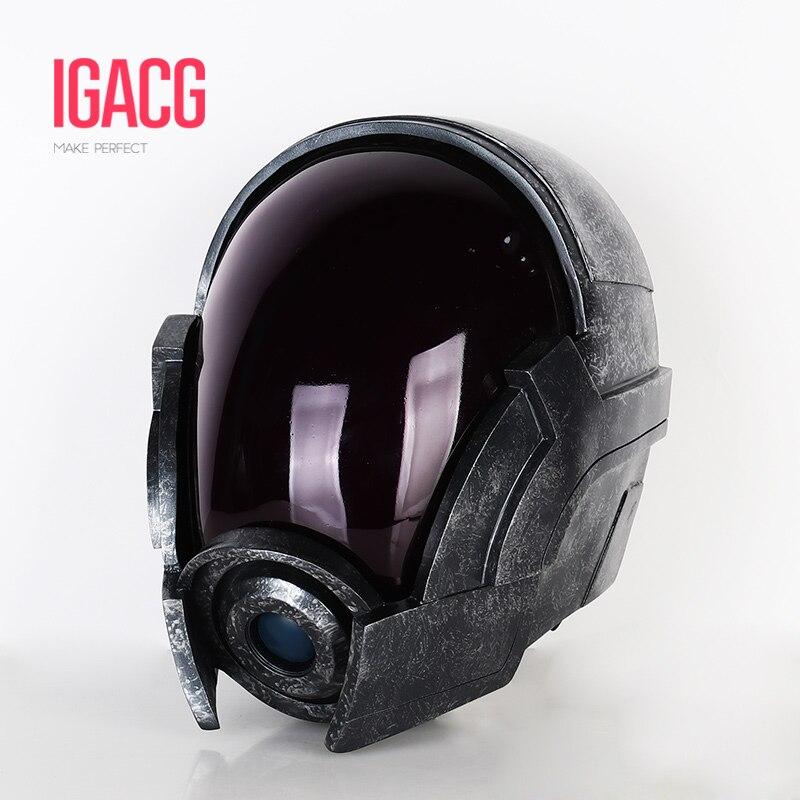 Material do frp!! Com luz!!! Igacg massa efeito 3 tali zorah led capacete com arylic visor tali máscara para cosplay sem bateria