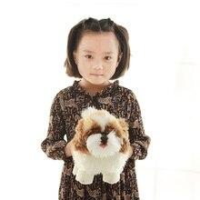 Fancytrader réaliste Anime Shih Tzu chien en peluche jouets peluche Mini animaux chien poupée 20cm 7 pouces grand cadeau pour les enfants