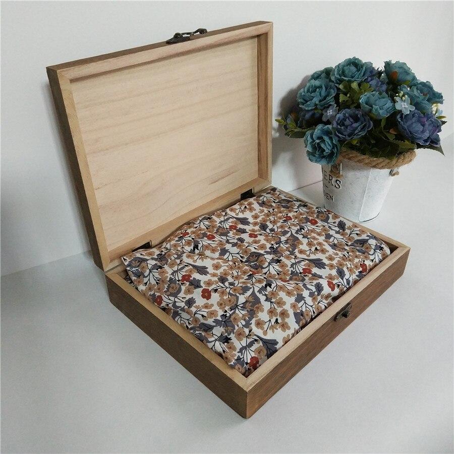Rechteckige Bekleidung Holz Aufbewahrungsbox Für Hemd Kleid Baby Ware Geburtstag Geschenk-box Holz Willkommen Gravur Logo 24,3*18,3*5 cm