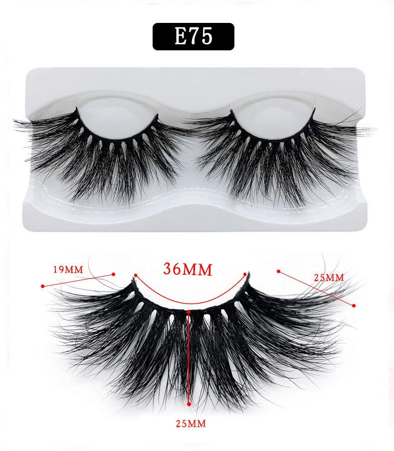 Thick super long mink 3D hair false eyelashes 25mm curly crossed messy fake lashes soft & vivid 300pairs/lot eyelashes extension