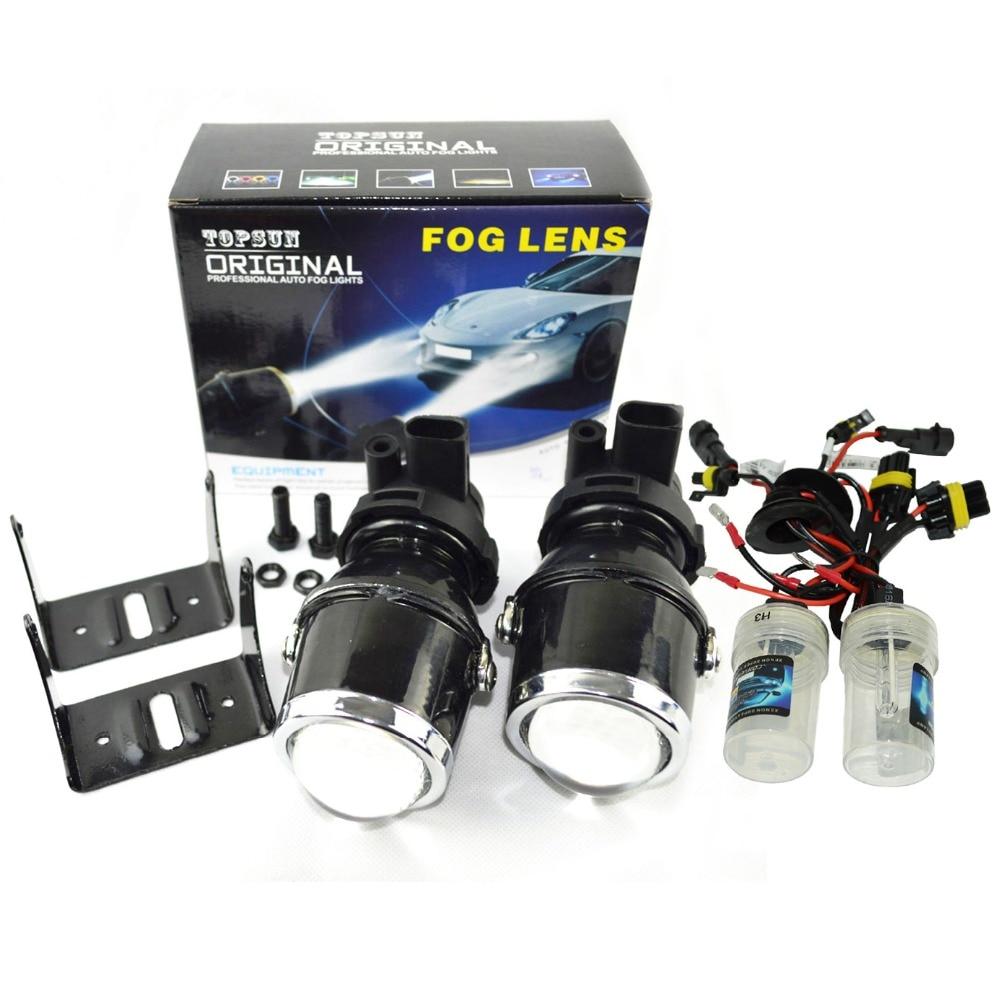 Safego nebelscheinwerfer projektor-objektiv 12 V/35 Watt xenon H3 nebel len lichter hid-lampe 6000 Karat für auto scheinwerfer hid-xenon projektorobjektiv kit
