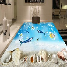 Wellyu مخصص على نطاق واسع جدارية بولي كلوريد الفينيل تحت الماء العالم القرش قذيفة ثلاثية الأبعاد العالم البحري سميكة مقاوم للماء مقاومة للاهتراء الكلمة