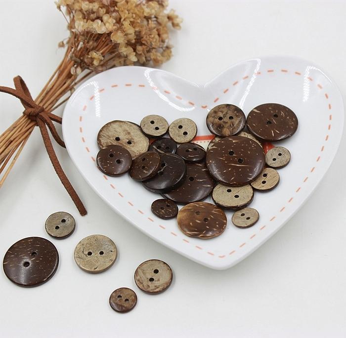 Accesorios de ropa camisas, blusas, abrigos, suéteres para niños, ropa botones de cáscara de coco marrón 90/bolsa