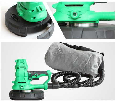 Self-suction 750W 180mm new drywall Sander with automatic absorbtion JHS180D enlarge