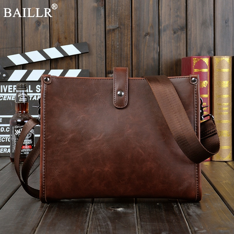 Hot sale  New fashion Handmade coffee pu leather men crossbody bags small leisure shoulder bag men messenger bag Wholesale 2018 hot sale men pu leather backpack female student fashion leisure bag multi functional document double shoulder bag