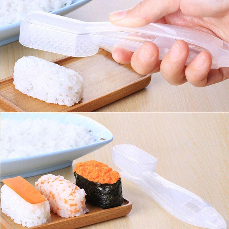 Utensilio de cocina Onigiri, Kit de rodillo de arroz, molde DIY, forma de bola de arroz, rodillo japonés, fabricante de Sushi, almuerzo para niños, Picnic, decoración para hornear Bento