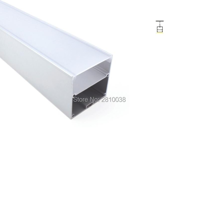 50 X 2M Sets/Lot U shape led aluminium profile led strip light Square size aluminum led extrusions for suspension lamps
