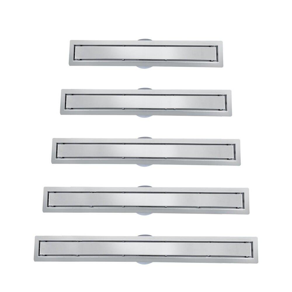 Baldosa lineal rotativa de acero inoxidable de 360 grados, drenaje de piso de ducha para baño y cocina.