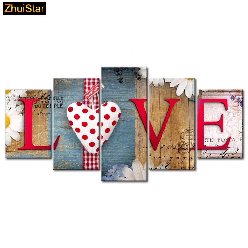 """5D DIY cuadro de diamantes cuadrado completo """"Love Family"""" combinación de múltiples imágenes bordado punto de cruz mosaico decoración de la pared del hogar"""