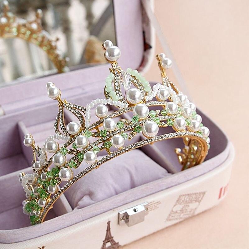 Tocado de novia de alta calidad corona de diamantes de imitación flor diadema Tiaras accesorios para el cabello de Reina Imperial joyería