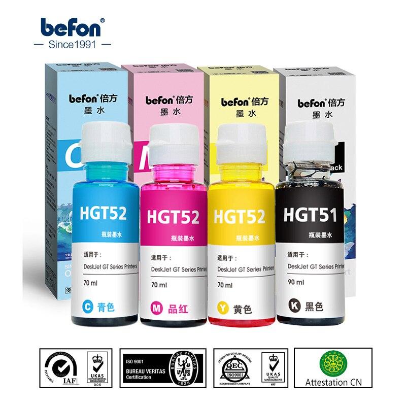 Befon X4 многоразовый набор чернил для принтера hp GT51 GT52 GT 51 52 для GT5810 GT5820 5810 5820 струйный принтер чернила 90 мл 70 мл