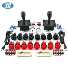 Diy Arcade Game Kit Usb Naar Nul Vertraging Board Usb Encoder Naar Pc/Raspberry Pi 8 Manier Joystick Arcade game Control Board 2 Speler