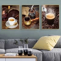 hand grinding coffee coffee theme photography canvas posters print modern wall art pictures for living room dinning room cafe