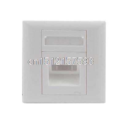 Una Placa de Pared Panel Socket SC De Fibra Óptica de Cable de Puente De Plástico Blanco