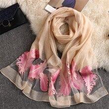 CUHAKCI Hijab Scarves High-quality Organza Scarf Feather Silk Scarf Women Sunscreen Shawl Foulard la