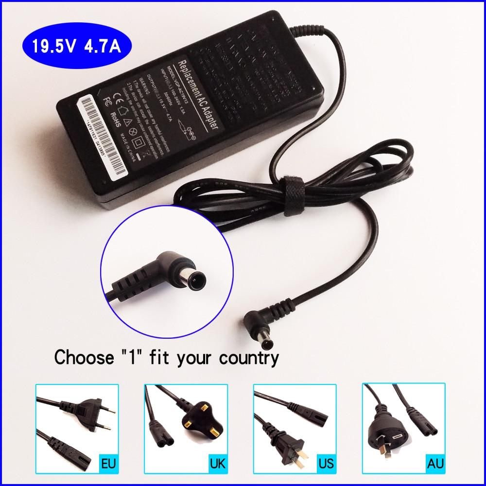 19,5 V 4.7A PC portátil adaptador de CA del cargador de batería para Sony VAIO PCGA-AC19V PCGA-AC19V1 PCGA-AC19V10 PCGA-AC19V11 PCGA-AC19V2